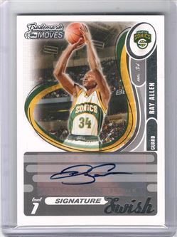 2006-07 Topps Trademark Moves Swish Autographs #SSW11 Ray Allen