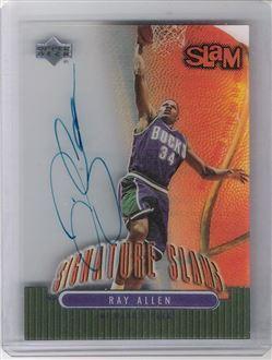 2000-01 Upper Deck Slam Signature Slams #RA Ray Allen