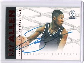 1996-97 Score Board Autographed Collection Autographs #3 Ray Allen