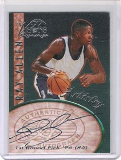 1997 Visions Signings Artistry Autographs #A6 Ray Allen