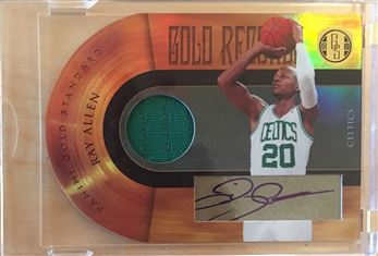 2010-11 Panini Gold Standard Gold Records Materials Signatures #1 Ray Allen