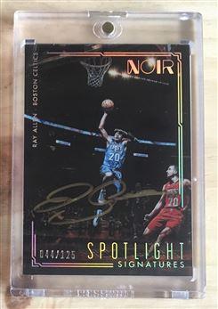 2016-17 Panini Noir Spotlight Signatures #8 Ray Allen