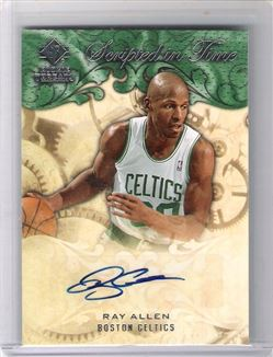 2008-09 SP Rookie Threads Scripted in Time #SITRA Ray Allen