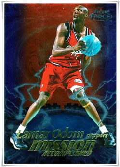 1999-00 Fleer Force Mission Accomplished #MA2 Lamar Odom $5.00 clippers