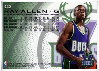 1996-97 Fleer European #242 Ray Allen $5.00 bucks