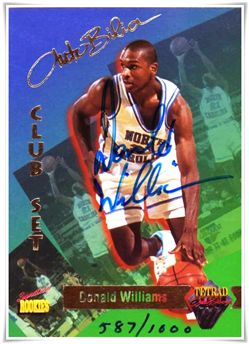 1995 Signature Rookies Tetrad Autobilia Autographed Cards #16 Donald Williams /1000 $3.00 unc