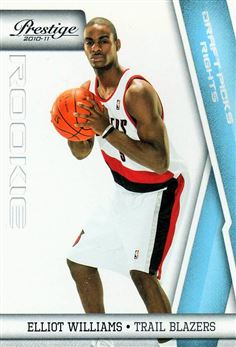 2010-11 Prestige Draft Picks Light Blue #231 Elliot Williams /999 $1.50 Blazers