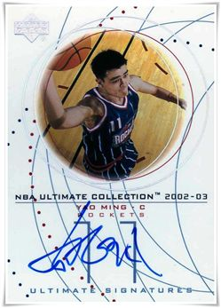 2002-03 Ultimate Collection Signatures #YMS Yao Ming