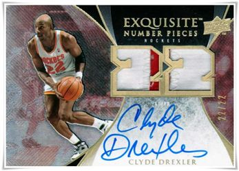 2007-08 Exquisite Collection Numbers #ENCD Clyde Drexler