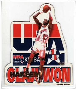 1995 Pro Mags USA Basketball Die Cuts #1 Hakeem Olajuwon