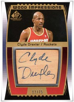 2004-05 SP Game Used Wood Impressions #CD Clyde Drexler