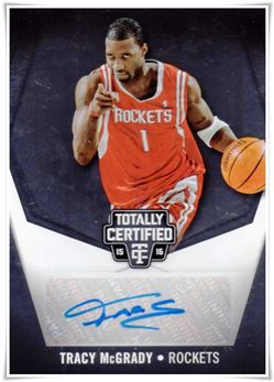 2015-16 Totally Certified Signatures #TCTM Tracy McGrady