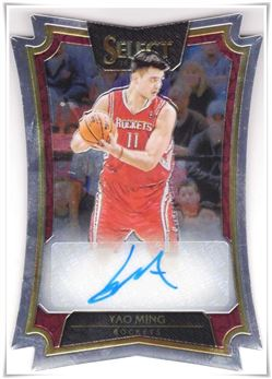2016-17 Select Die-Cut Autographs #5 Yao Ming