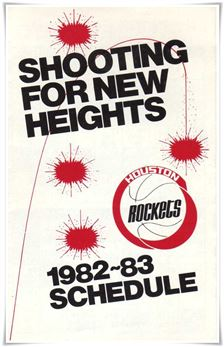 1982-83 Schedule Houston Rockets
