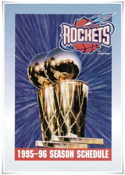 1995-96 Schedule Houston Rockets