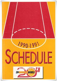 1990-91 Schedule Houston Rockets