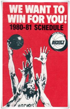 1980-81 Schedule Houston Rockets