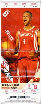 2008 Match Ticket Shane Battier