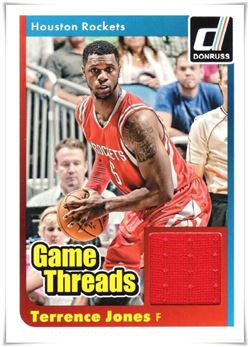 2014-15 Donruss Game Threads #35 Terrence Jones (red)