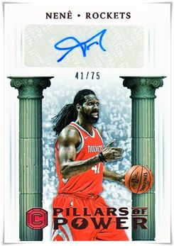 2017-18 Panini Cornerstones Pillars of Power Autographs Bronze #16 Nene