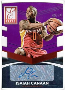 2014-15 Elite Status Signatures Purple #68 Isaiah Canaan