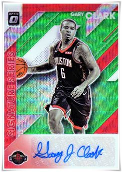 2019-20 Donruss Optic Signature Series Green Wave #4 Gary Clark