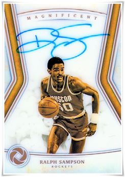 2018-19 Panini Opulence Magnificent Autographs #13 Ralph Sampson