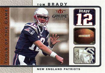 2003 Fleer Genuine Insider Tools of the Game 6 Tom Brady