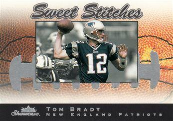 2003 Fleer Showcase Sweet Stiches 6 Tom Brady