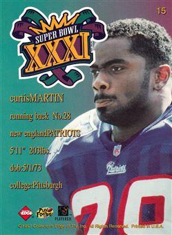 1997 Collector´s Edge Masters Patriots Super Bowl XXXI 15 Curtis Martin