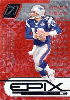 2005 Zenith Epix Orange 3rd Down 24 Tom Brady