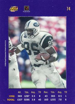 1999 Absolute SSD  Purple 74 Curtis Martin