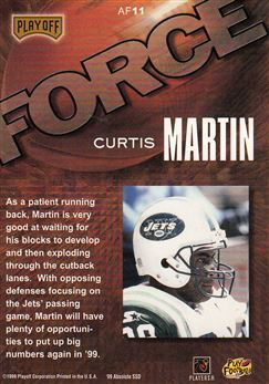 1999 Absolute SSD Force AF14 Curtis Martin