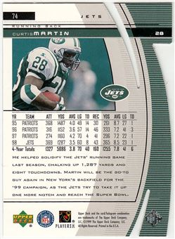 1999 Black Diamond Diamond Cut 74 Curtis Martin
