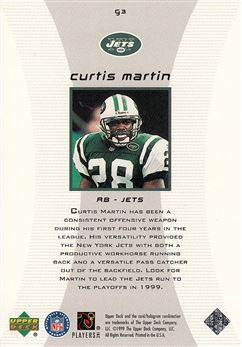 1999 Black Diamond Gallery G3 Curtis Martin