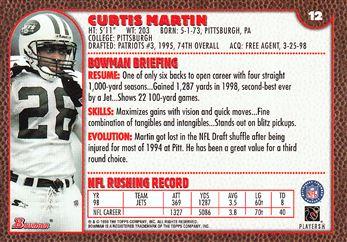 1999 Bowman 12 Curtis Martin
