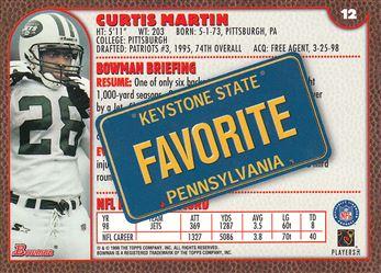 1999 Bowman Interstate 12 Curtis Martin