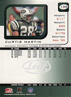 1999 Leaf Rookies & Stars 135 Curtis Martin