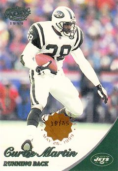 1999 Pacific   Opening Day 286 Curtis Martin