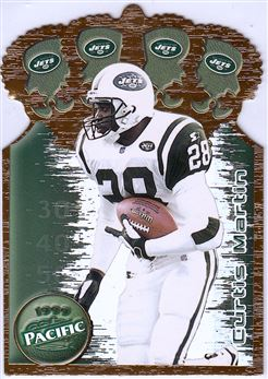 1999 Pacific  Gold Crown Die Cuts 25 Curtis Martin