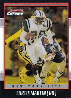 2001 Bowman Chrome Gold Refractors 99 Curtis Martin