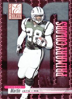 2001 Donruss Elite Primary Colors  PC4 Curtis Martin