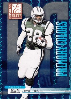 2001 Donruss Elite Primary Colors Blue PC4 Curtis Martin
