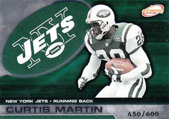 2002 Atomic Non Die Cut 66 Curtis Martin