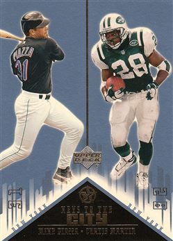 2002 - 03 UD Superstars Keys to the City Curtis Martin w/Mike Piazza
