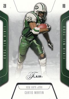 2003 Flair 25 Curtis Martin