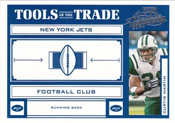 2004 Absolute Memorabilia Tools of the Trade   TT19 Curtis Martin