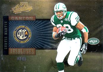 2005 Absolute Memorabilia Canton Absolutes Gold 2 Curtis Martin