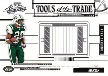 2005 Absolute Memorabilia Tools of the Trade Black TT20 Curtis Martin