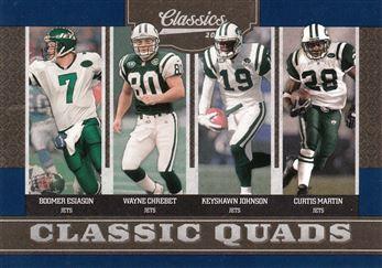 2010 Classics Classic Quads 4 Curtis Martin w/Boomer Esiason w/Wayne Chrebet w/Keyshawn Johnson